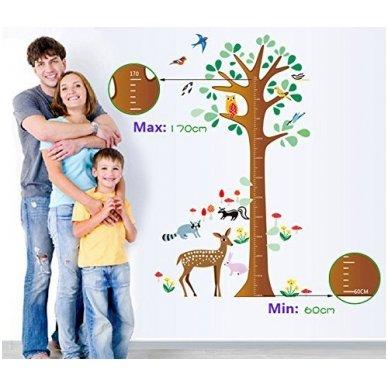 """Sienos lipdukas """"Stirnos Ūgio Medis"""", 80x135 cm 4"""