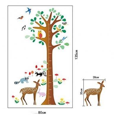 """Sienos lipdukas """"Stirnos Ūgio Medis"""", 80x135 cm 5"""