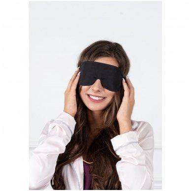 Šilkiniai miego akiniai (juodi) 4