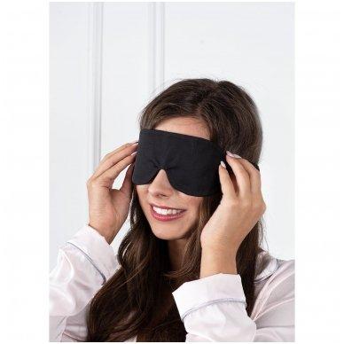 Šilkiniai miego akiniai (juodi) 5