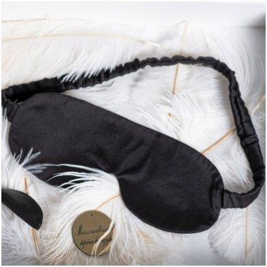 Šilkiniai miego akiniai (juodi)