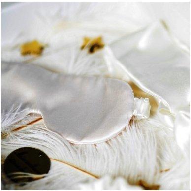 Šilkiniai miego akiniai (pieno baltumo) 3