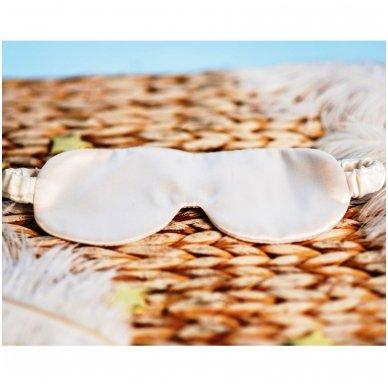 Šilkiniai miego akiniai (pieno baltumo) 2