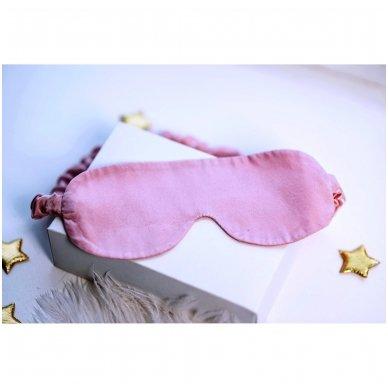 Šilkiniai miego akiniai (šviesiai rožiniai) 3