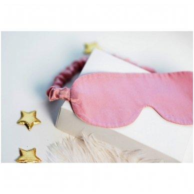Šilkiniai miego akiniai (šviesiai rožiniai) 4