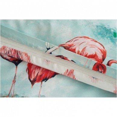 """Siuvamas Premium satino patalynės komplektas """"Flamingo šuolis"""" 5"""