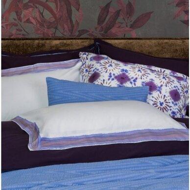"PREMIUM satino patalynės komplektas ""Batik Frame Lilac Blue"""
