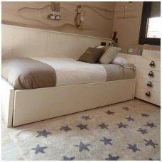 """Skalbiamas kilimas """"Žvaigždės"""" (ruda)"""