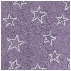 """Skalbiamas kilimas """"Žvaigždės"""" (violetinė)"""