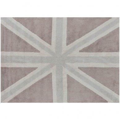 """Skalbiamas kilimas """"Anglijos Vėliava"""" (ruda) 2"""