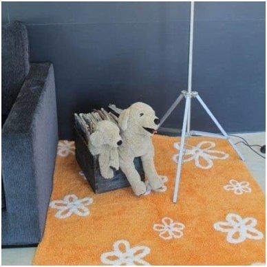 """Skalbiamas kilimas """"Gėlytės"""" (oranžinė)"""