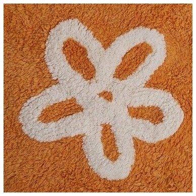 """Skalbiamas kilimas """"Gėlytės"""" (oranžinė) 3"""