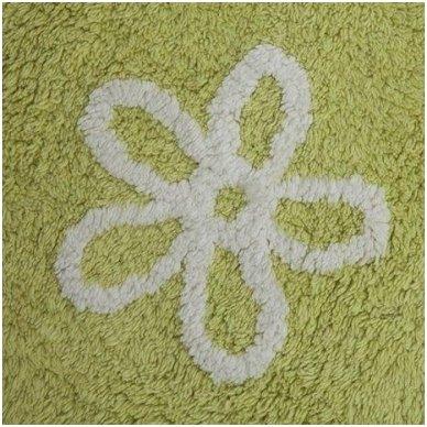 """Skalbiamas kilimas """"Gėlytės"""" (žalia) 3"""