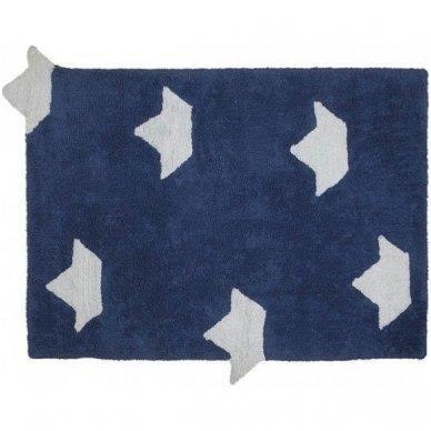 "Skalbiamas kilimas ""Laiveliai"" (mėlyna) 2"