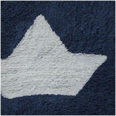"Skalbiamas kilimas ""Laiveliai"" (mėlyna) 3"