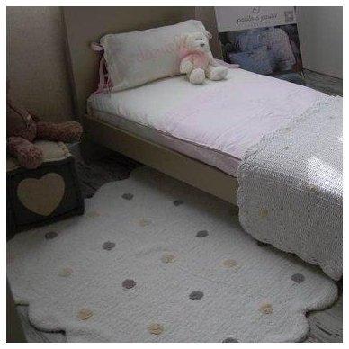 """Skalbiamas kilimas """"Sausainiukas"""" (balta) 4"""