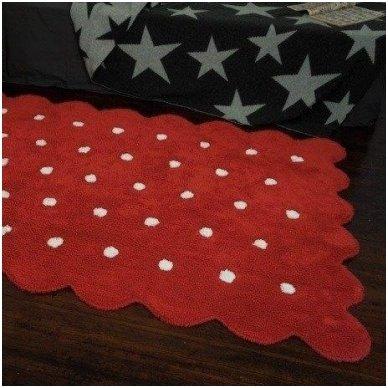 """Skalbiamas kilimas """"Sausainiukas"""" (raudona) 4"""