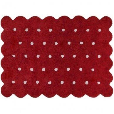 """Skalbiamas kilimas """"Sausainiukas"""" (raudona) 2"""