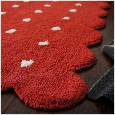 """Skalbiamas kilimas """"Sausainiukas"""" (raudona)"""