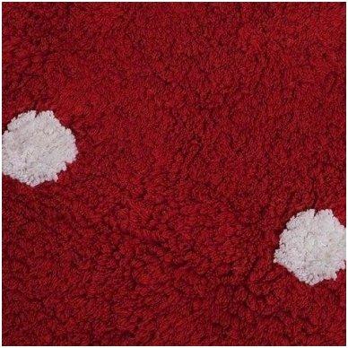 """Skalbiamas kilimas """"Sausainiukas"""" (raudona) 3"""