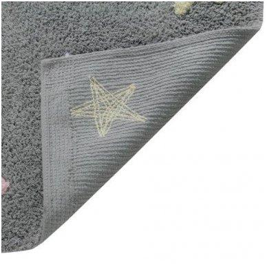 """Skalbiamas kilimas """"Spalvotos žvaigždutės"""" (pilka/rausva) 4"""