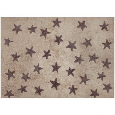 """Skalbiamas kilimas """"Žvaigždės"""" (ruda) 2"""