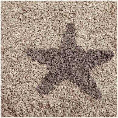"""Skalbiamas kilimas """"Žvaigždės"""" (ruda) 3"""