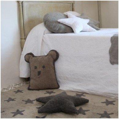 """Skalbiamas kilimas """"Žvaigždės"""" (ruda) 7"""