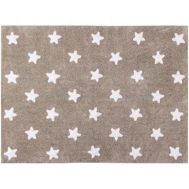 """Skalbiamas kilimas """"Žvaigždės"""" (rusva) 2"""