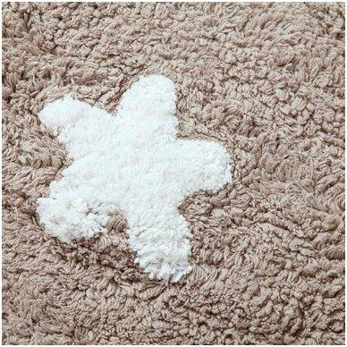 """Skalbiamas kilimas """"Žvaigždės"""" (rusva) 3"""