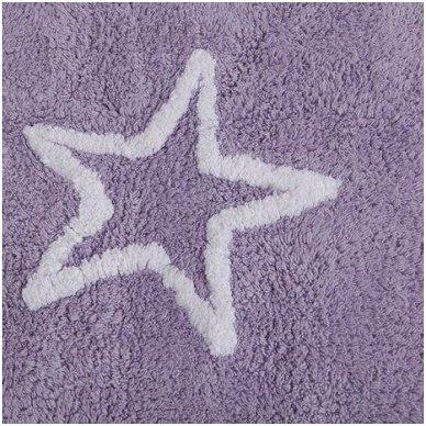 """Skalbiamas kilimas """"Žvaigždės"""" (violetinė) 2"""