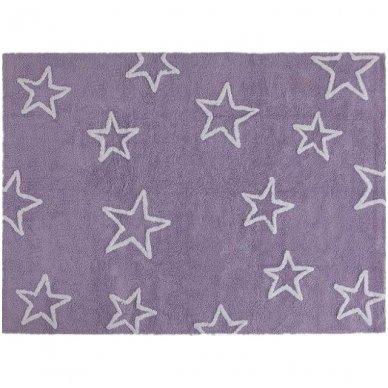 """Skalbiamas kilimas """"Žvaigždės"""" (violetinė) 3"""