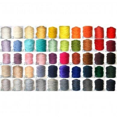 Storų siūlų vilnonis pledas (įvairių spalvų) 2