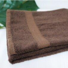 Šukuotinės medvilnės rankšluostis (Ruda)