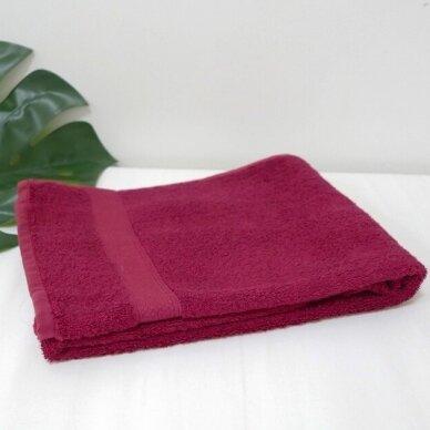 Šukuotinės medvilnės rankšluostis (Bordo) 2