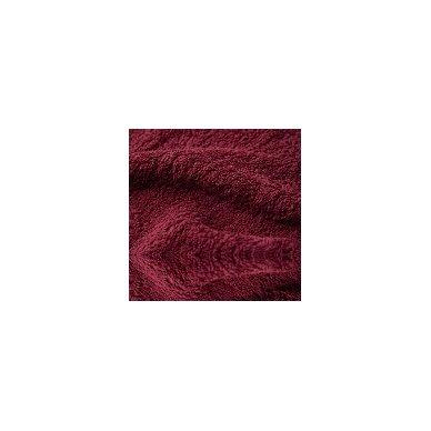 Šukuotinės medvilnės rankšluostis (Bordo)