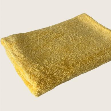 Šukuotinės medvilnės rankšluostis (Geltona) 2