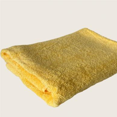 Šukuotinės medvilnės rankšluostis (Geltona) 3
