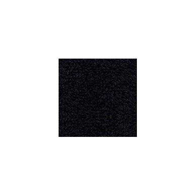 Šukuotinės medvilnės rankšluostis (Juoda)