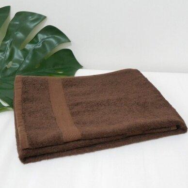Šukuotinės medvilnės rankšluostis (Ruda) 2