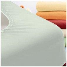 Trikotažinė paklodė su guma (šviesiai pilka)