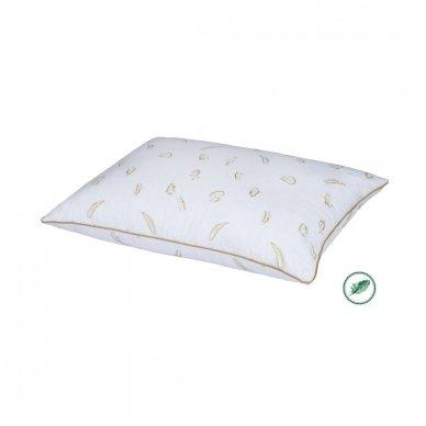 Trijų skyrių žąsų-ančių pūkų pagalvė, 70x70 cm