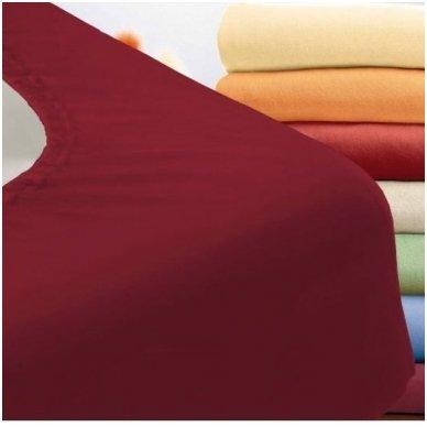 Trikotažinė paklodė su guma (bordo)