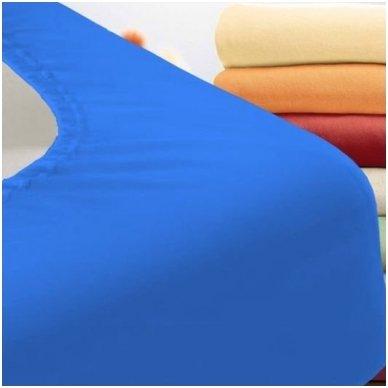 Trikotažinė paklodė su guma (mėlyna)