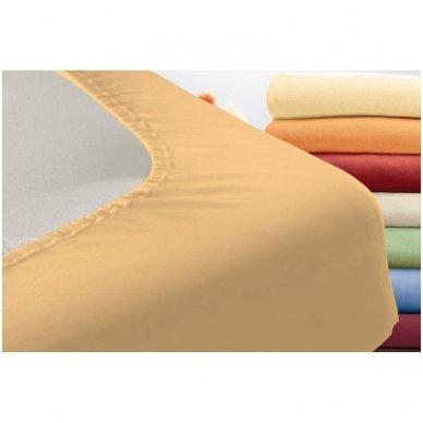 Trikotažinė paklodė su guma (persikinė) 2