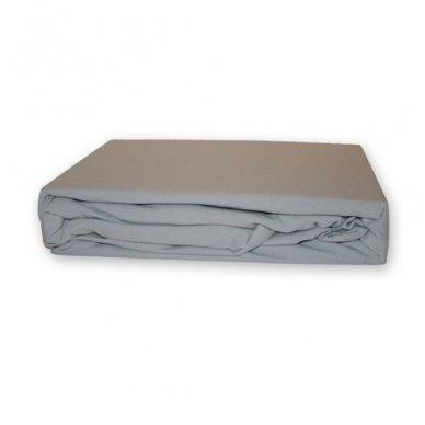 Trikotažinė paklodė su guma (Pilka), 200x220 cm