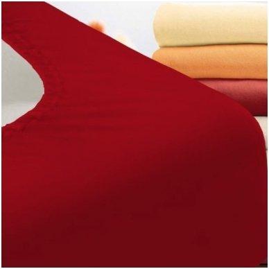Trikotažinė paklodė su guma (raudona)