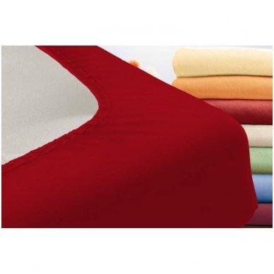 Trikotažinė paklodė su guma (raudona) 2