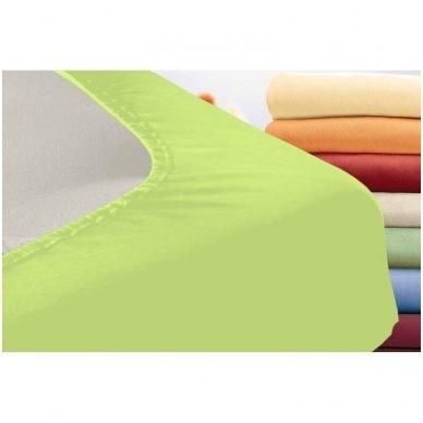 Trikotažinė paklodė su guma (salotinė) 2