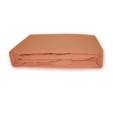 Trikotažinė paklodė su guma (Rusva), 200x220 cm